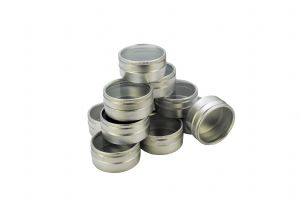 Clear Lid Storage Tins, Box of 12.  S7857